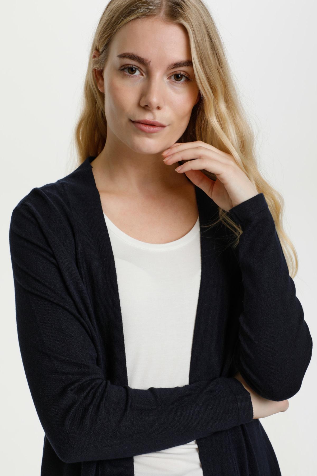 Annemarie Long Navy Cardigan