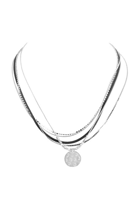 Silver and Gunmetal Necklace