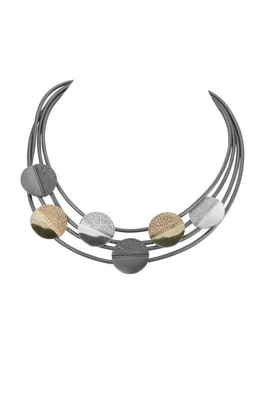 Metal Discs Necklace