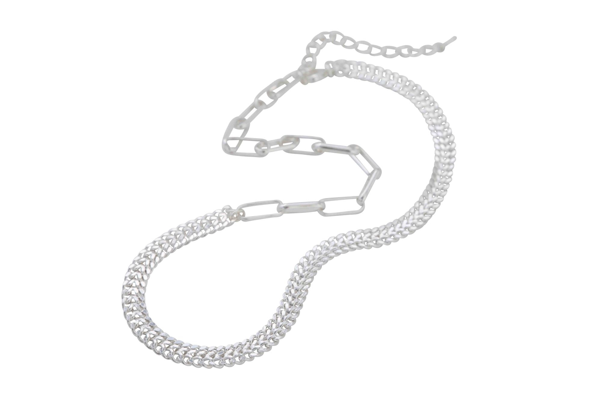 Shiny Silver Chain Necklace