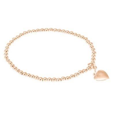 Rose Gold Elastic Heart Bracelet