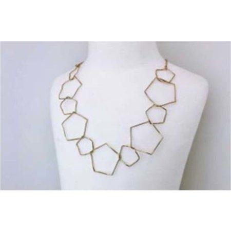 Rhodium Necklace - Gold