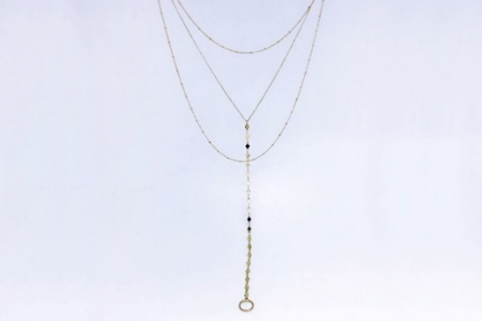 Shiny Gold Y Necklace