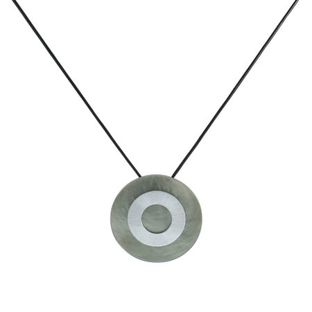Silver and Grey Pendant Necklace