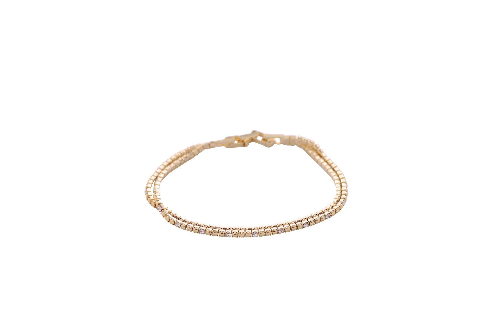 Gold and Crystal Bracelet