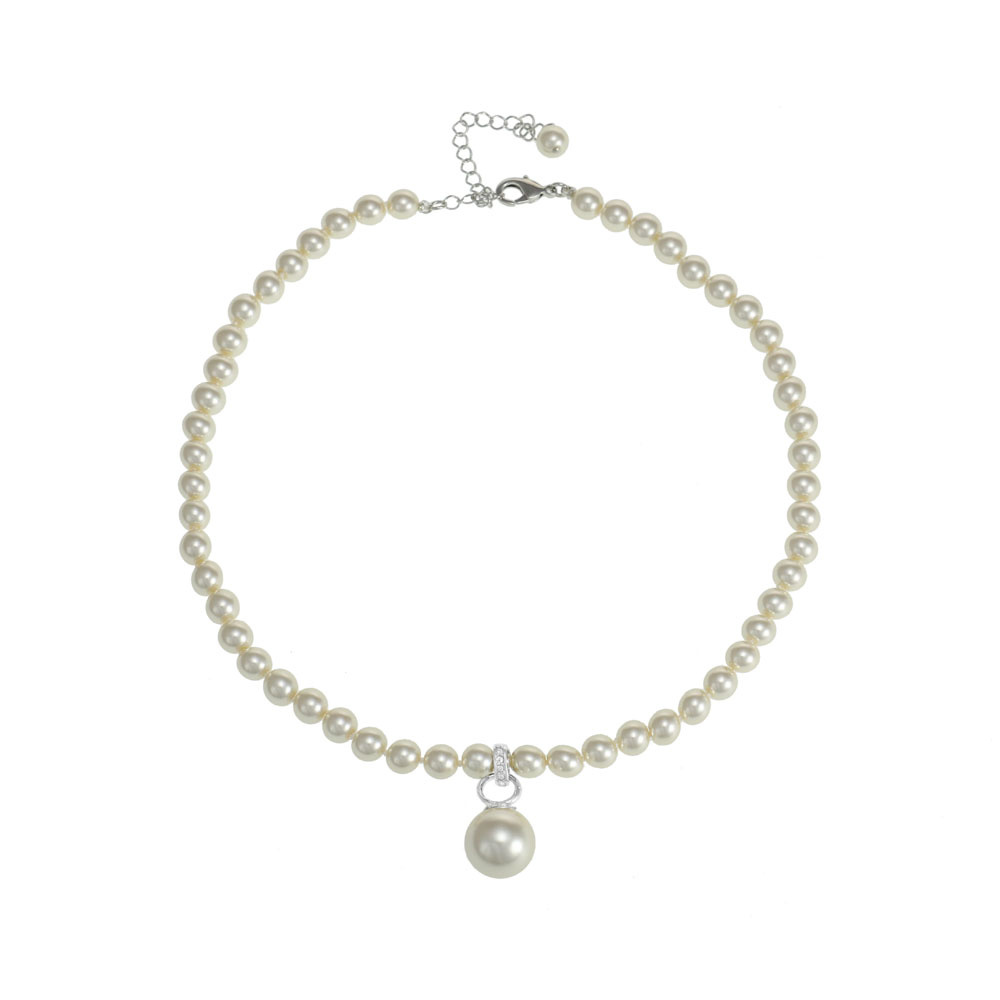 Pearl Necklace with Pearl Pendant