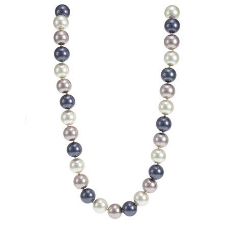 Tri-Tone Pearl Necklace
