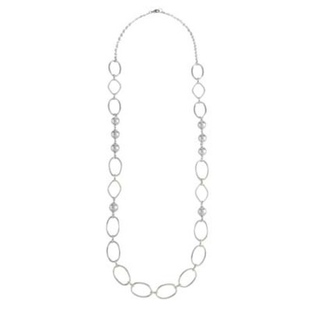Grey Pearl and Chain Necklace