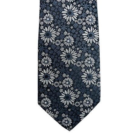 Monochrome Floral Tie