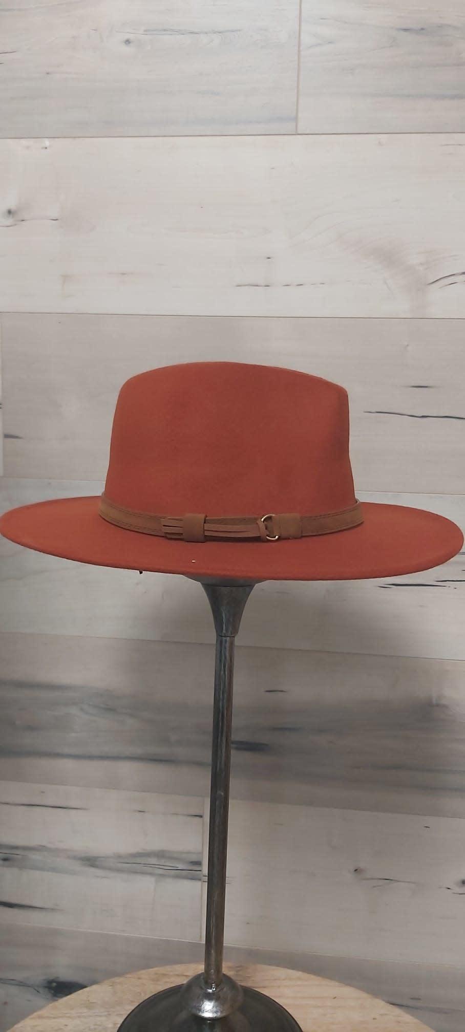 Burnt Orange Western Hat with Brown Bow
