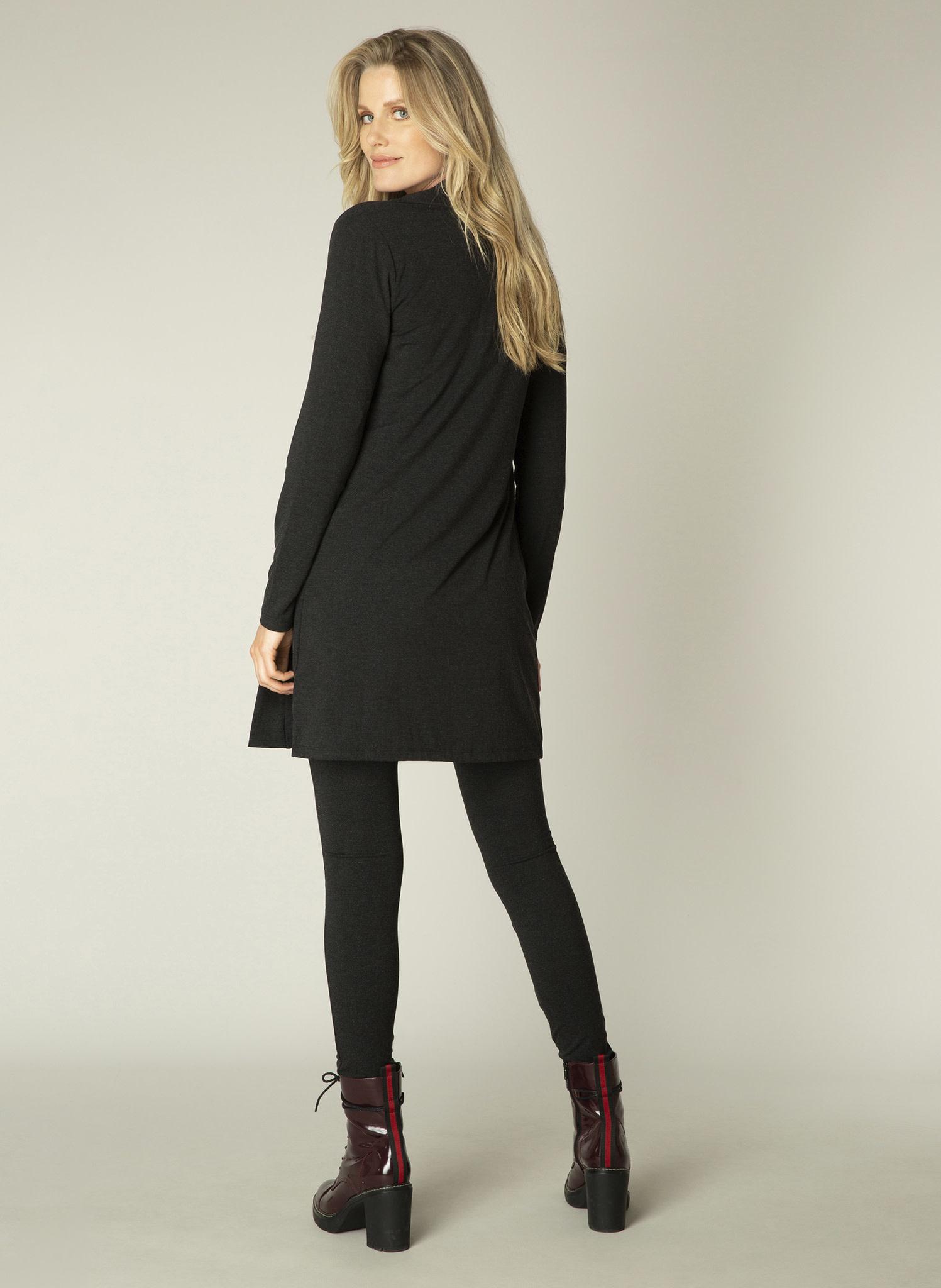 Charcoal Melange Jersey Cardigan