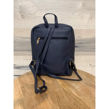 Square Backpack - Navy