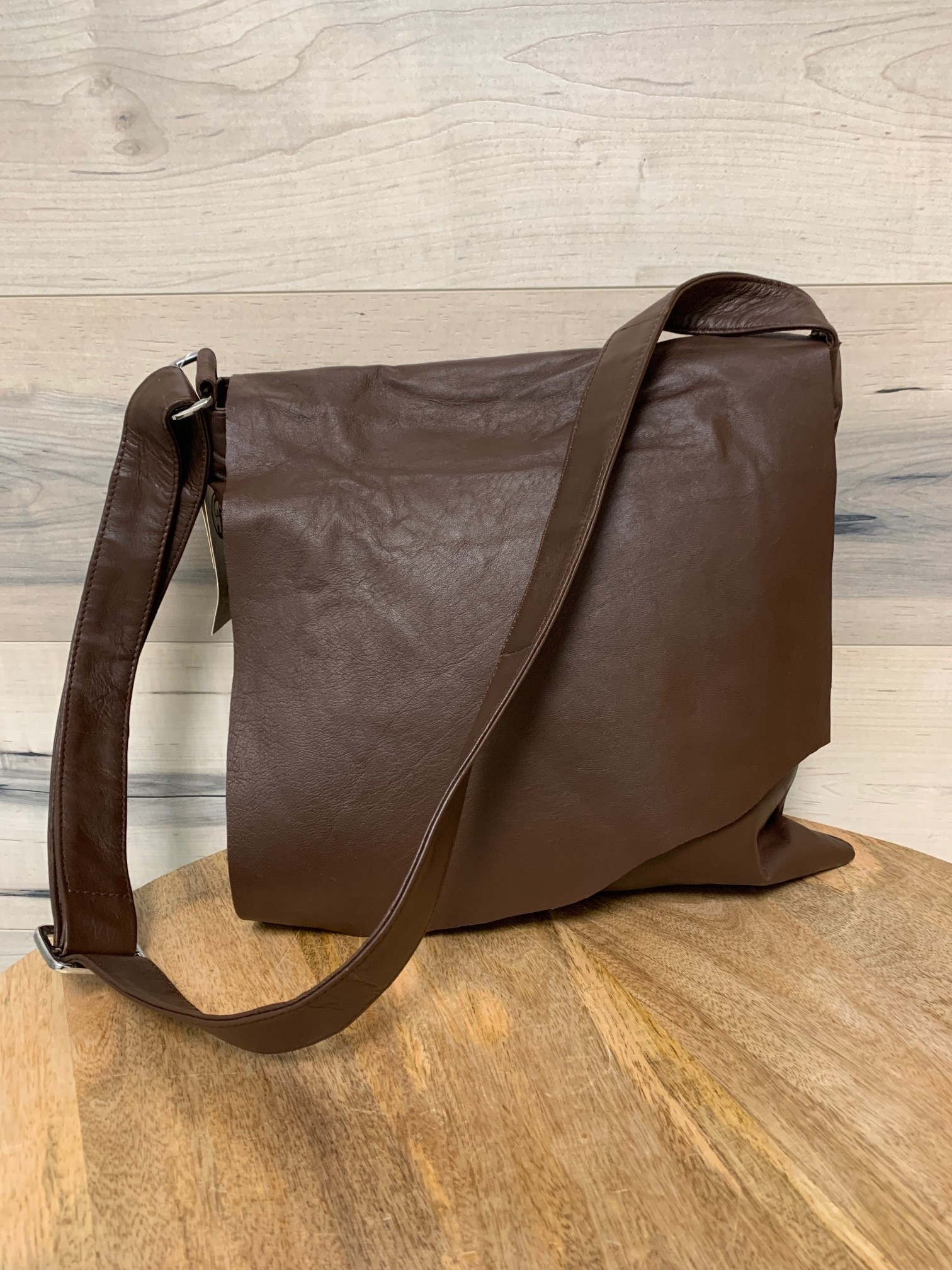 Brown Purse with Long Flap