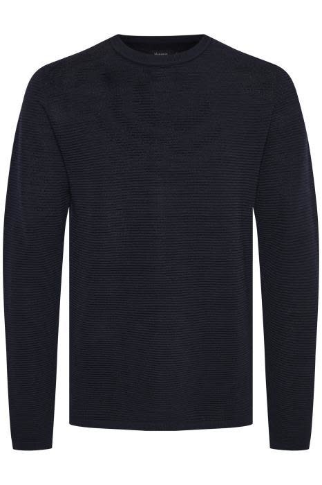 Ribbed Sweater - Navy