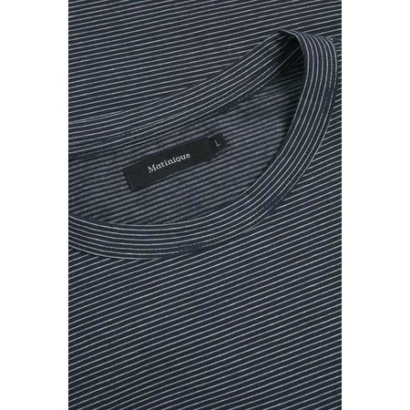 Jermane Long Sleeved Shirt - Dark Navy Stripe