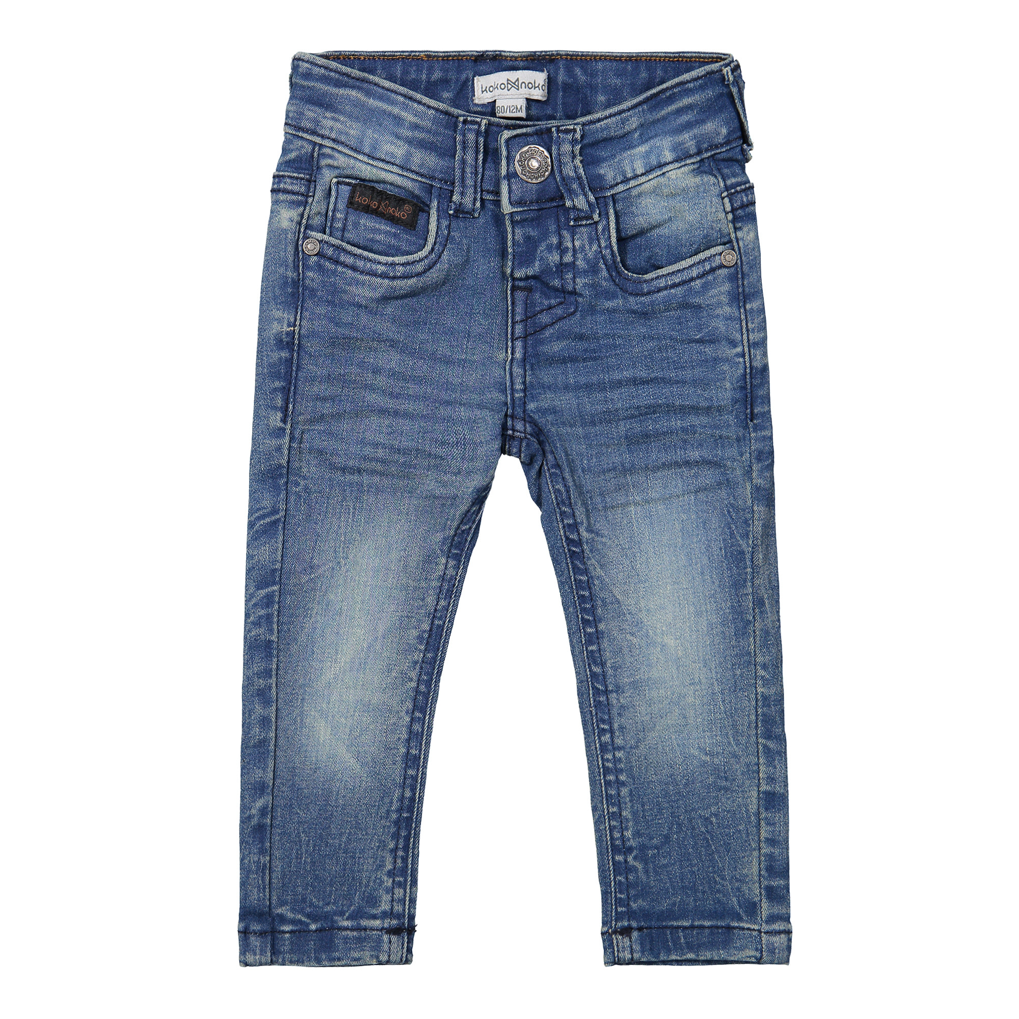 Jeans with Leather Placket on Pocket