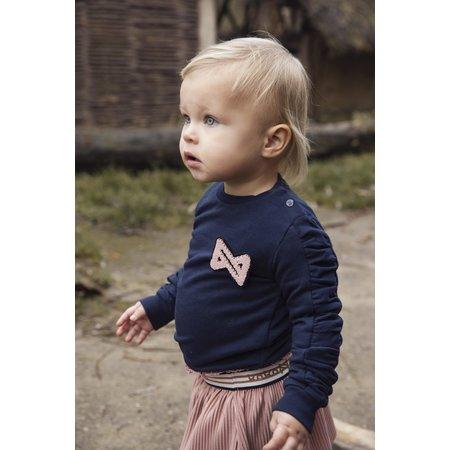 Navy Branded Girls Sweater