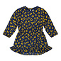 Navy and Yellow Leopard Print Dress