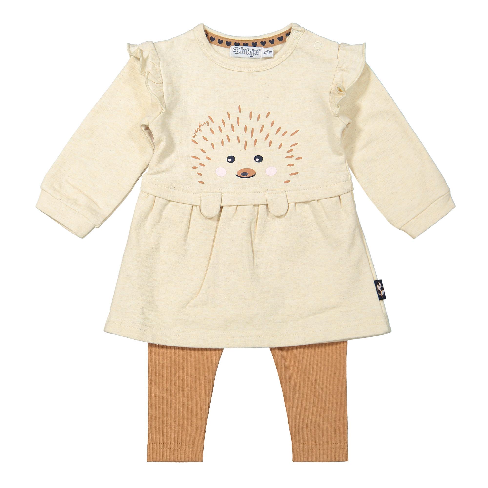 Hedgehog Dress and Legging Set