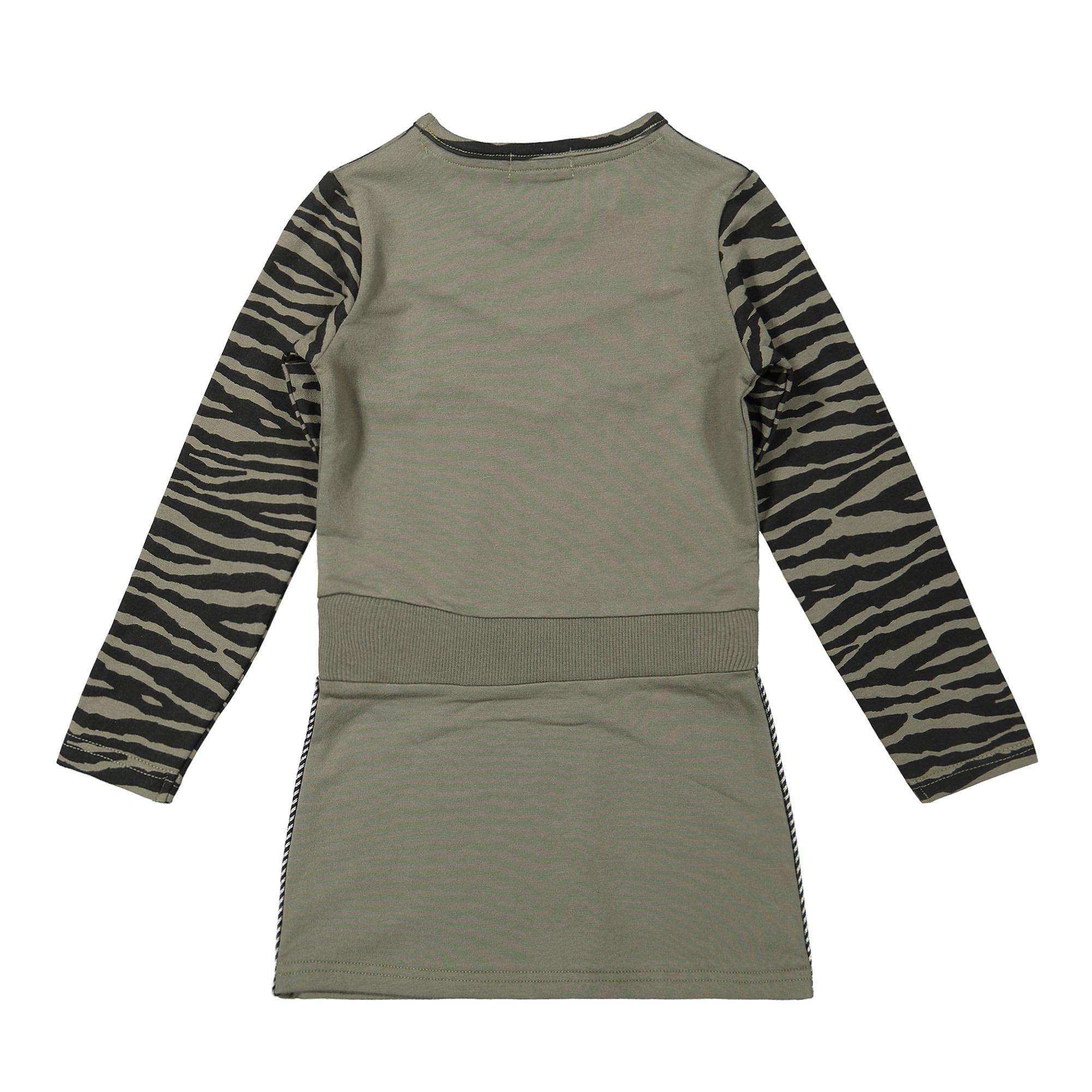 Olive Green Chevron Dress