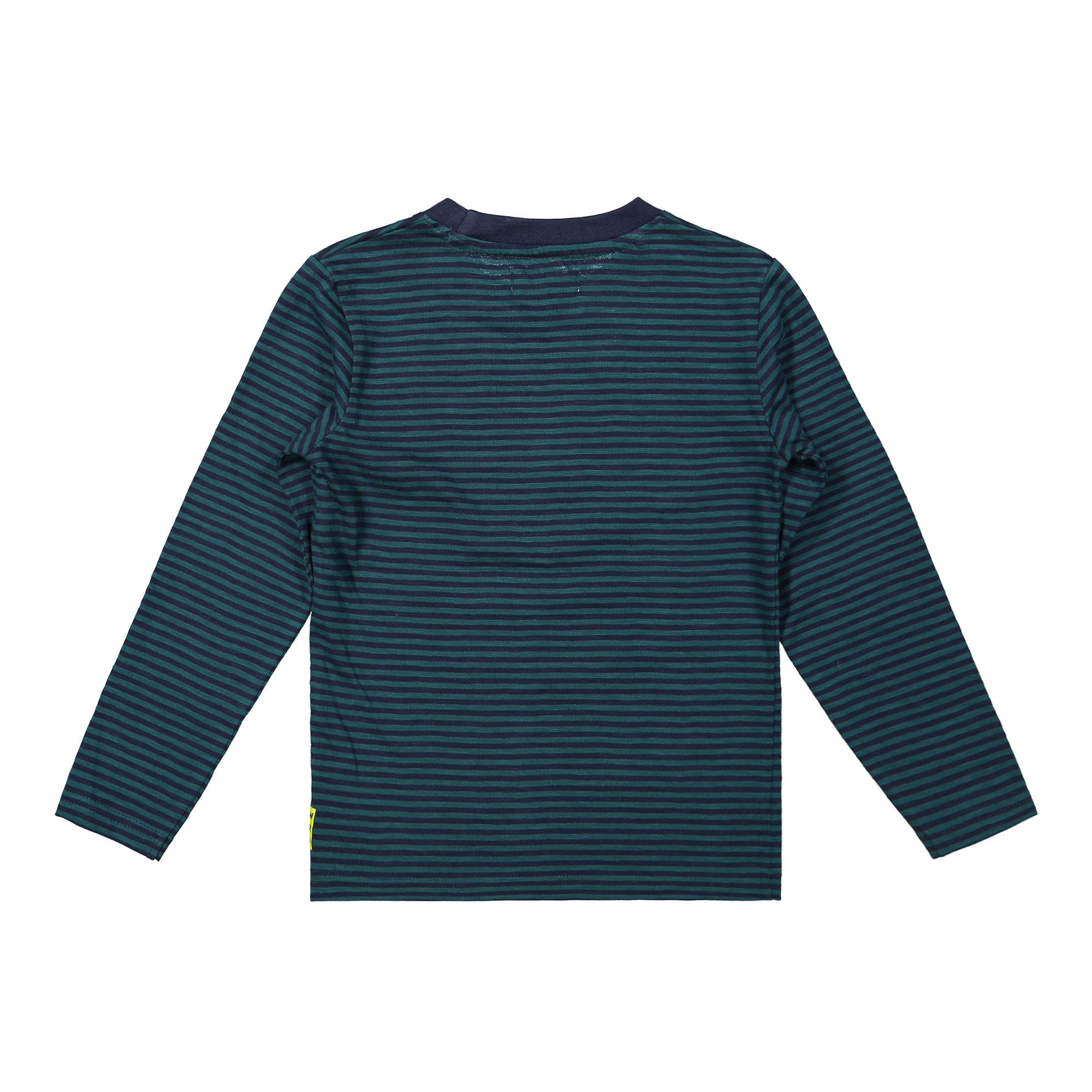 Striped Long Sleeved Shirt with Zipper Accent