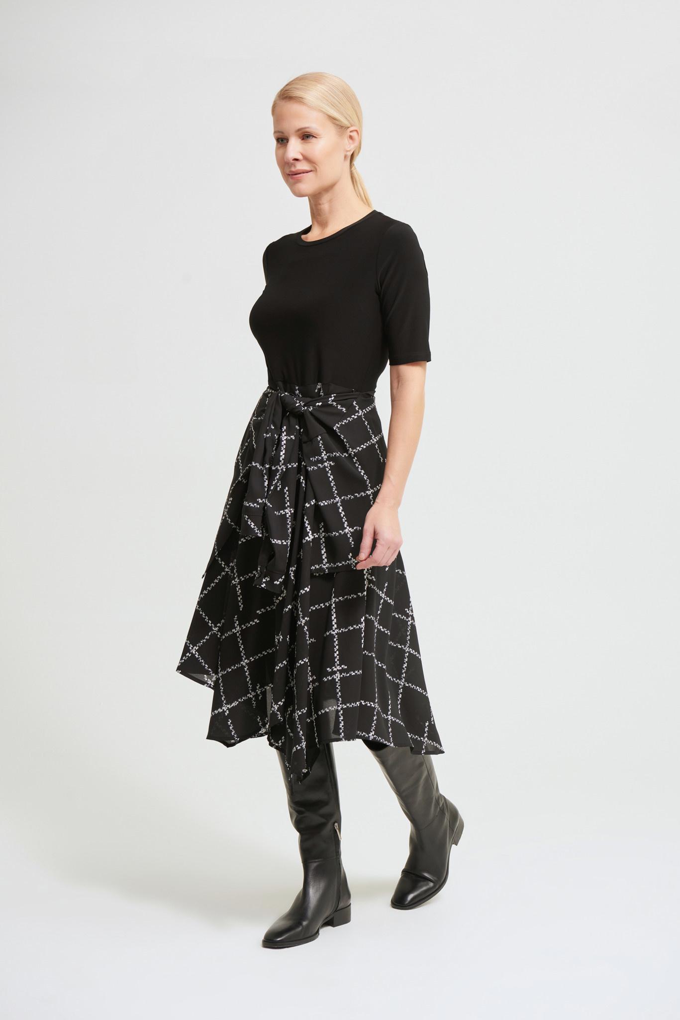 Dress with Chiffon Print Skirt