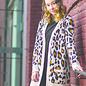 Jacquard Knit Leopard Print Cardigan