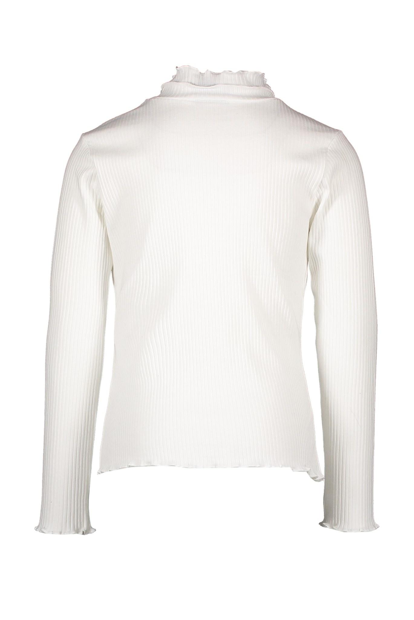 Nola Rib Turtleneck Top - Off White