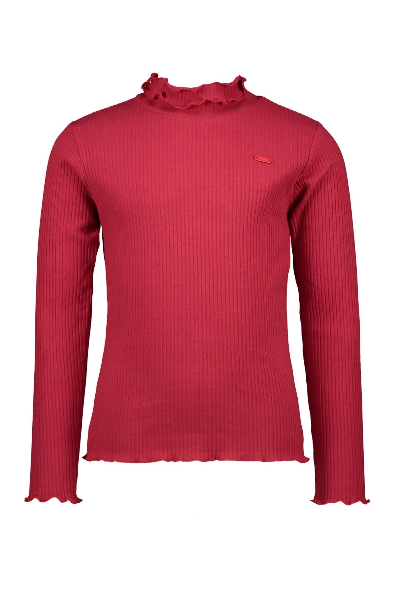 Nola Rib Turtleneck Top - Simply Red