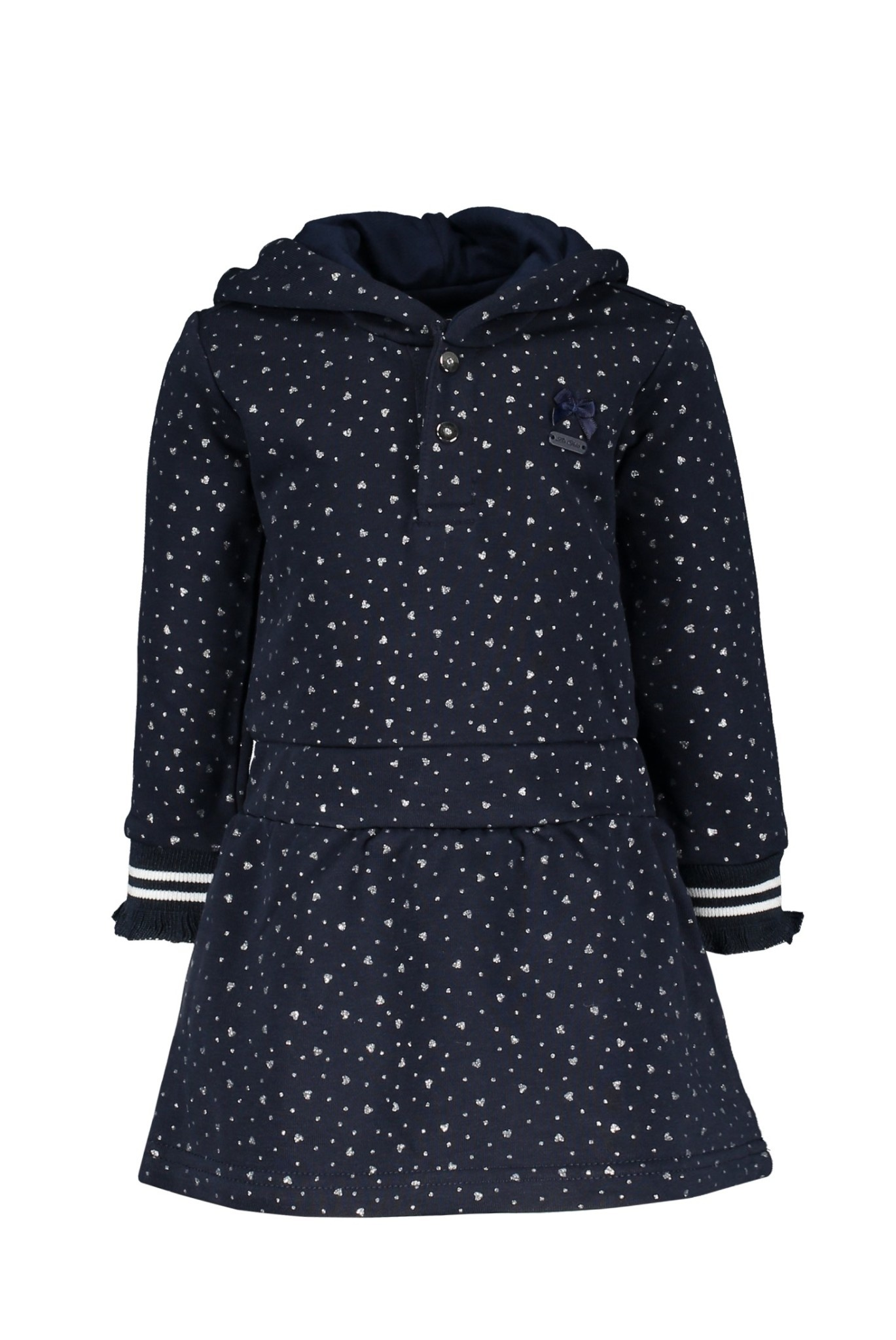 Sammy Hearts and Dots Hooded Dress