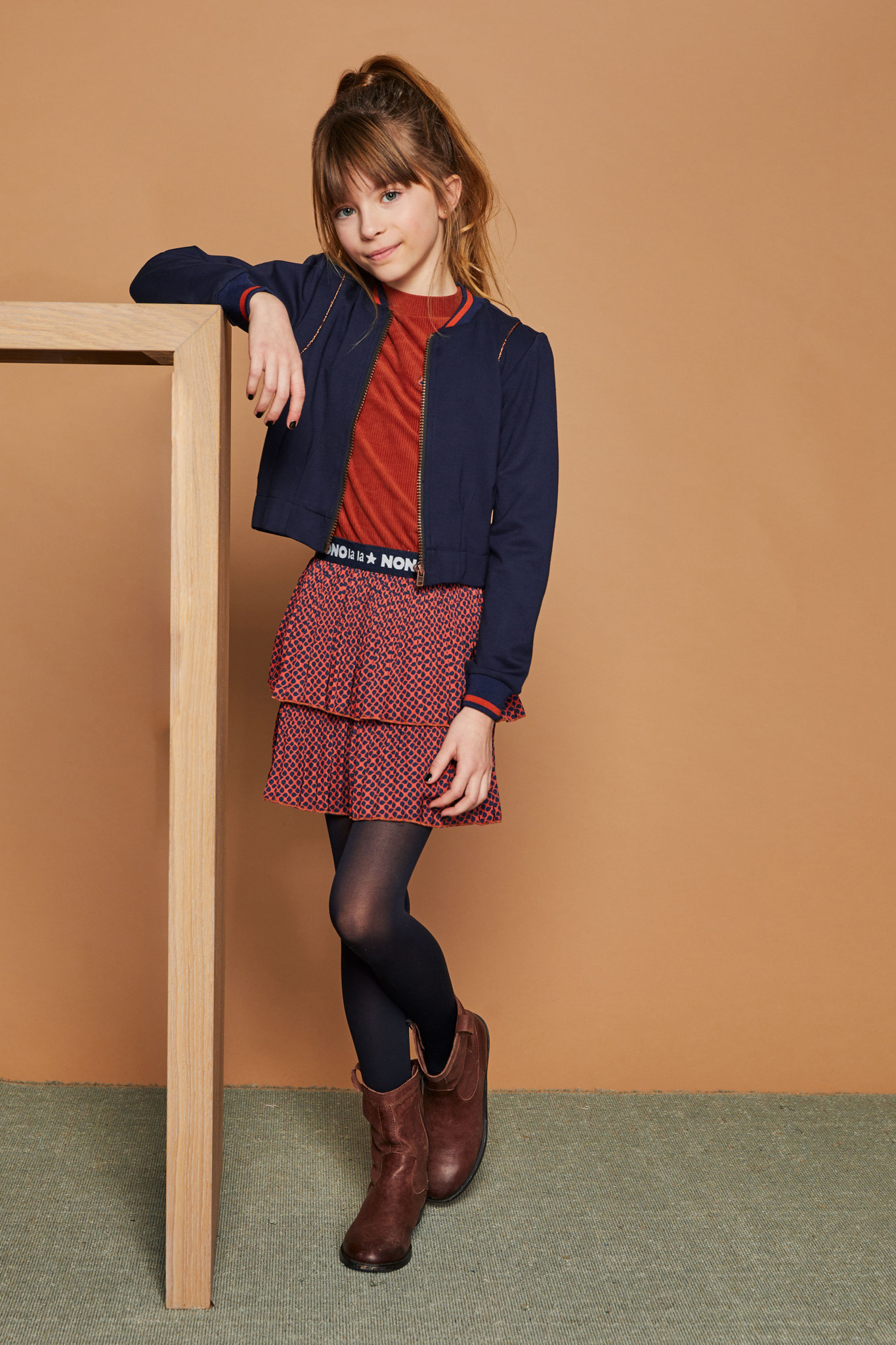 Mika Dress with Layered Skirt