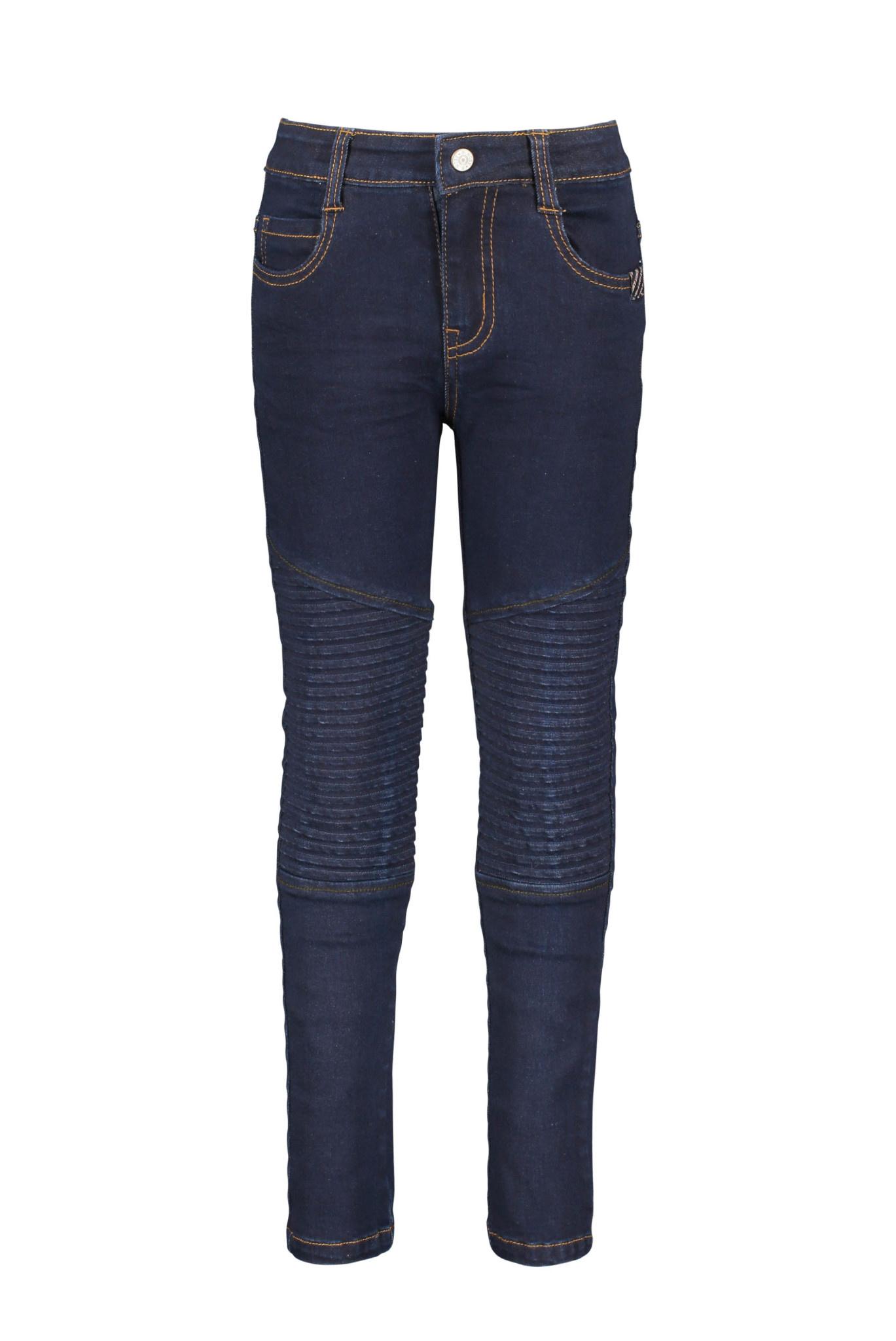 Dark Wash Moto Jeans