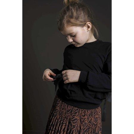 Woven Crepe Plisse Skirt