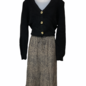 Speckled Plisse Skirt