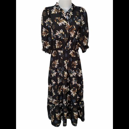 Floral Print Dress - Midnight