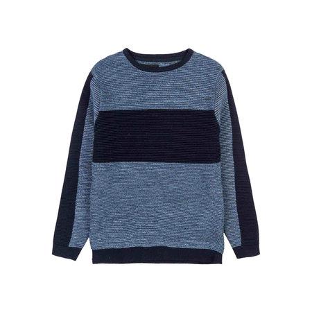 Navy Melange Rib Sweater