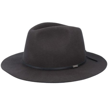 Wesley Packable Fedora - Washed Black