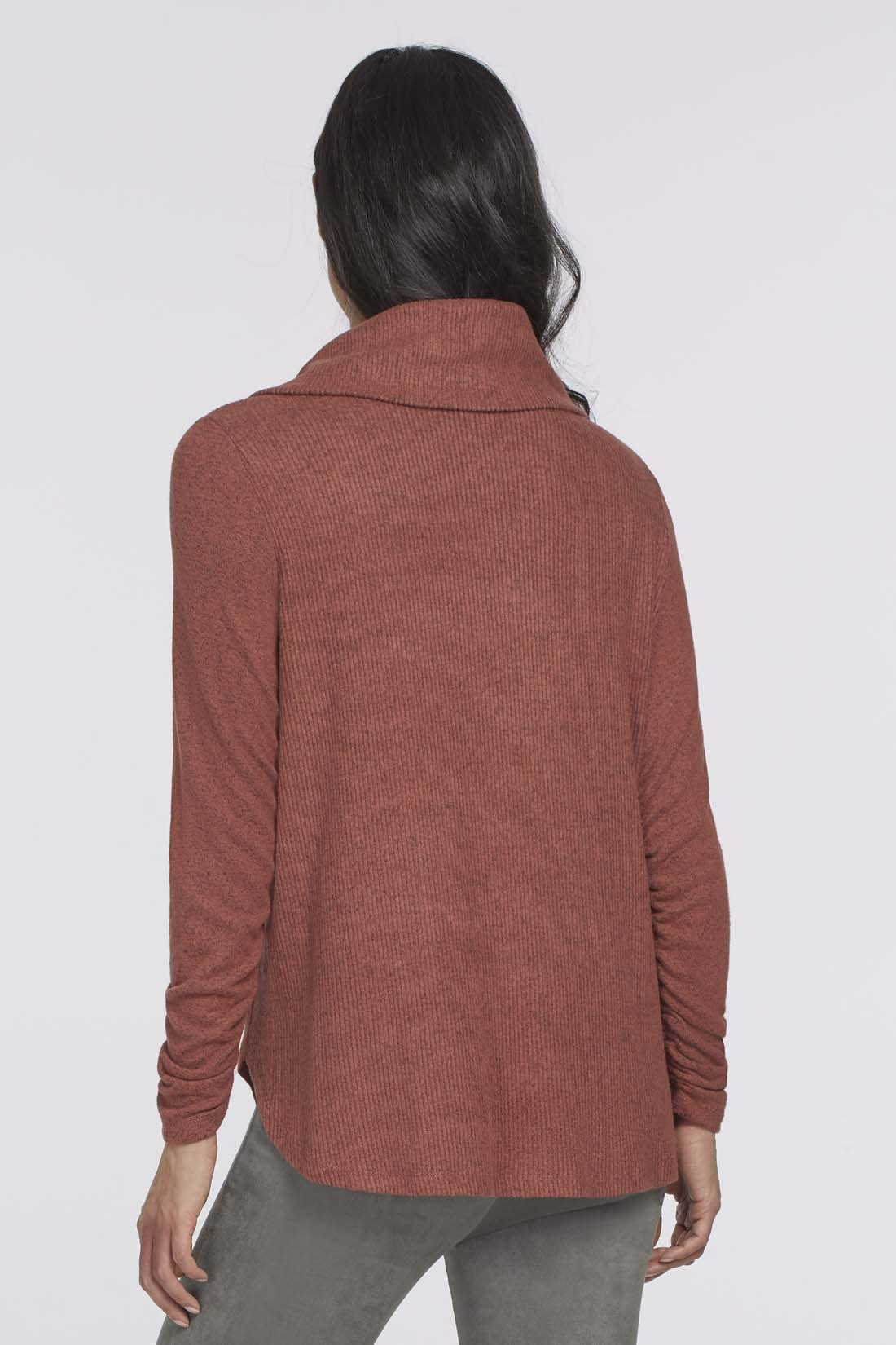 Ginger Long Sleeve Top with Shirring Detail