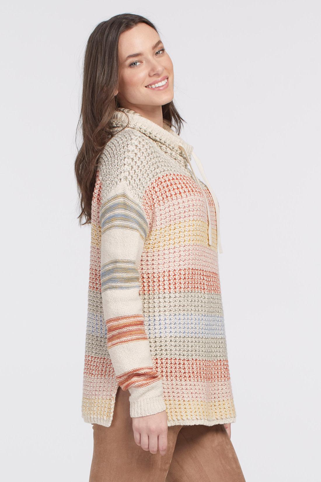 Blush Stripe Dropped Shoulder Sweater