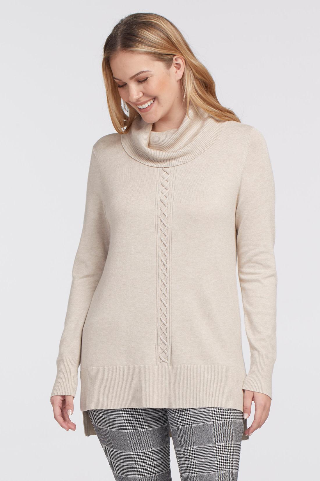 Light Mocha Cowl Neck Sweater