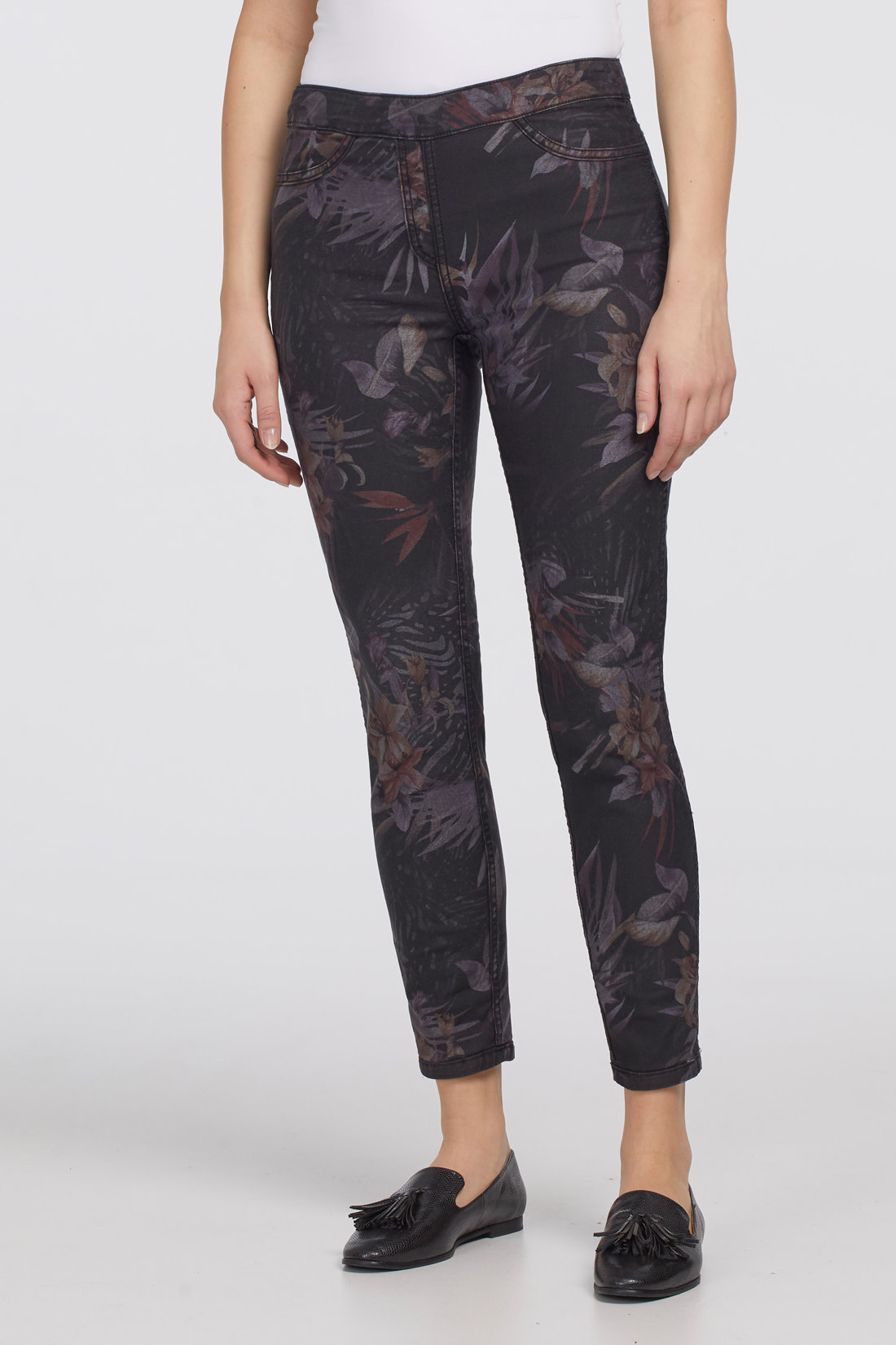 Audrey Print Pull-On Ankle Jegging