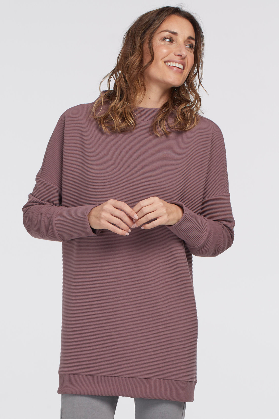 Mulberry Funnel Neck Tunic