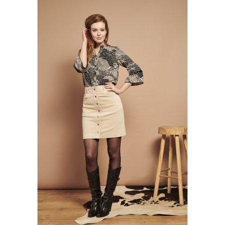 Cord Skirt - Cream