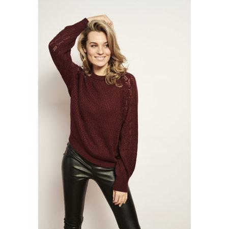 Knit Sweater - Dark Red