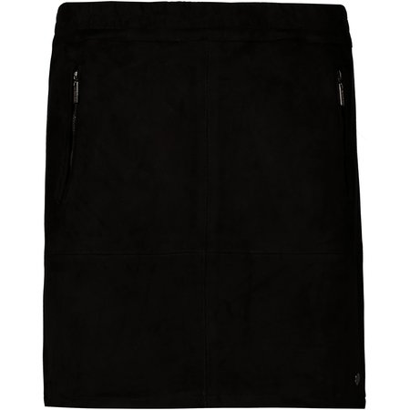 Faux Suede Skirt - Black