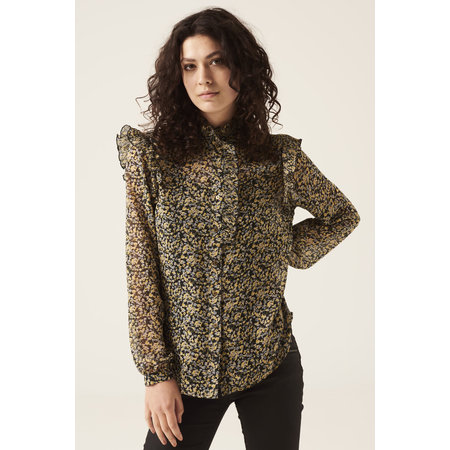 Floral Blouse with Ruffle Detail