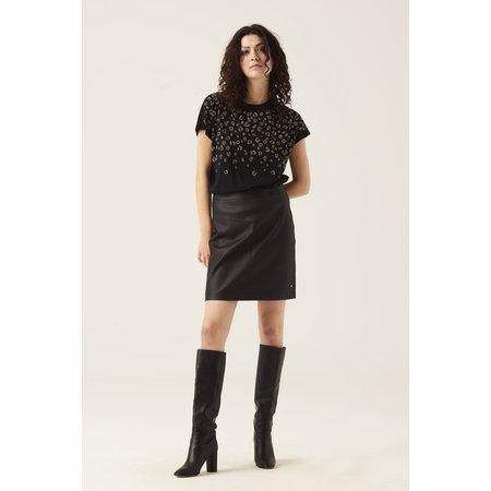 Leather Look Skirt - Black