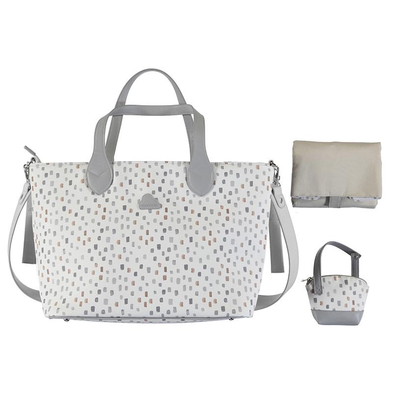 3 Piece Leatherette Diaper Bag Set