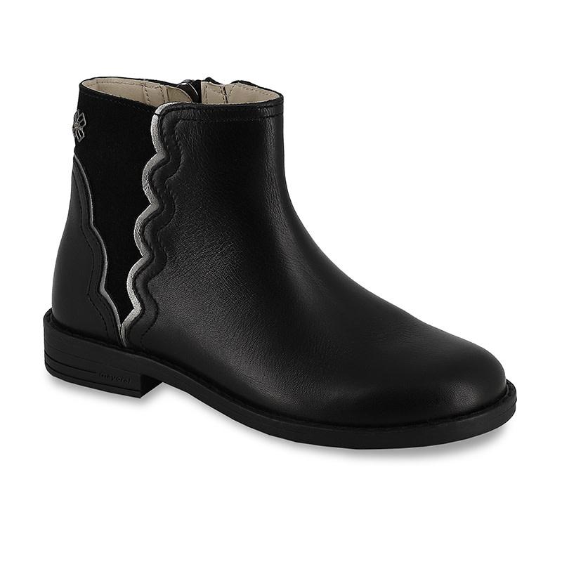 Leather Bootie - Black
