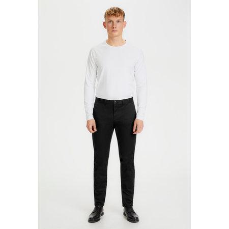 Cotton Sateen Dressy Pants - Black